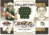 2009 Donruss Threads Mark Sanchez Rookie Collection Auto # 19/50