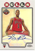 Derrick Rose 08/09 Topps Chrome Rookie Auto