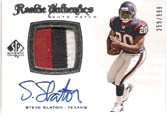 Steve Slaton 2008 SP Authentic RC PATCH AUTO #259/99