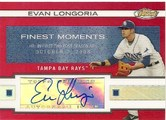 2009 Topps Finest Moments Red Refractor Autograph Evan Longoria #3\/25 Front